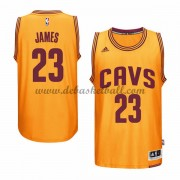 Herren Cleveland Cavaliers NBA 2015-16 LeBron James 23# Gold Alternate Basketball Swingman Trikot..